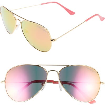 Lilly Pulitzer Lexy 5m Polarized Aviator Sunglasses - Hot Pink
