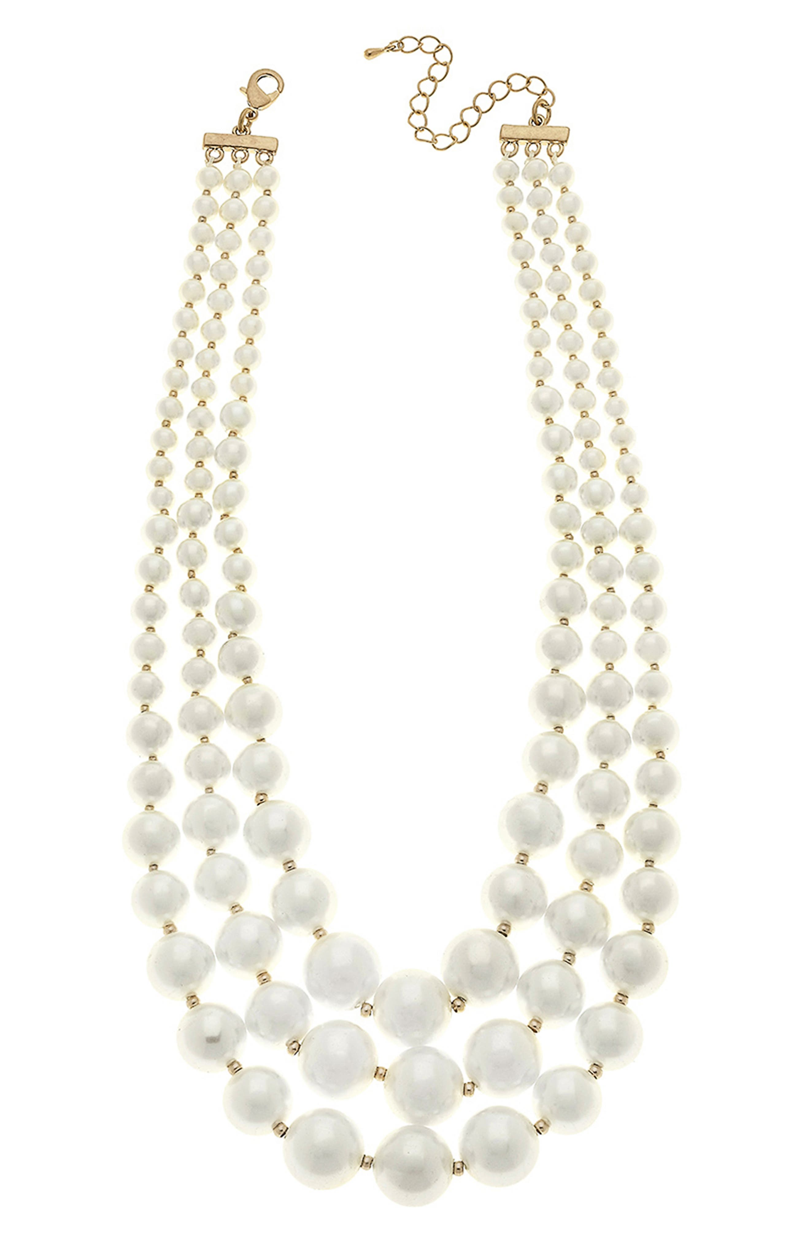 Audrey Imitation Pearl Layered Necklace