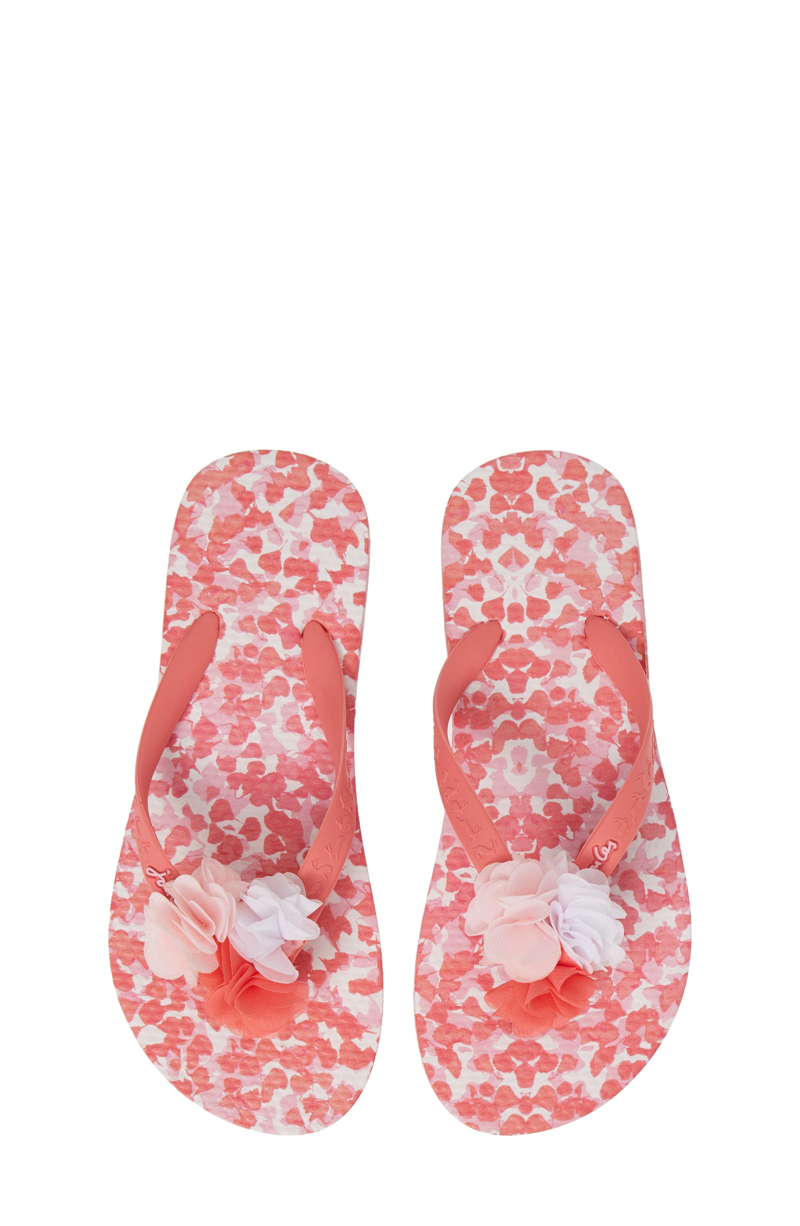 Girls Joules Floral Flip Flop Sandal