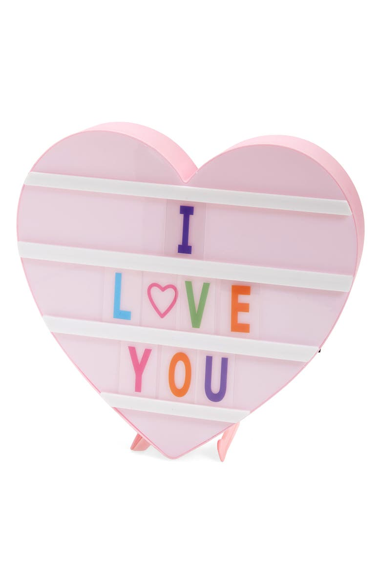 ISCREAM Heart Shaped Light-Up Message Board, Main, color, AST