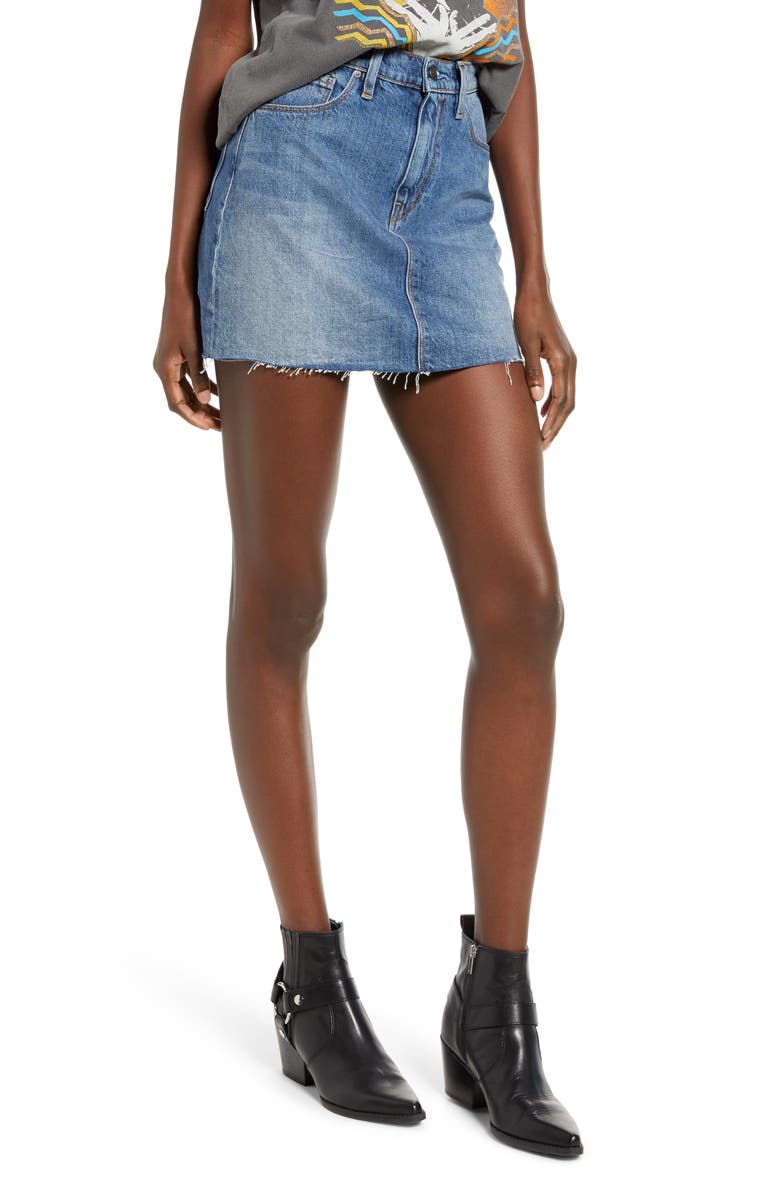 HUDSON JEANS The Viper Cutoff Denim Miniskirt, Main, color, 401