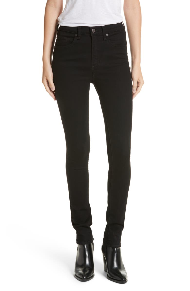 VERONICA BEARD Kate 10 Skinny Jeans, Main, color, RAVEN