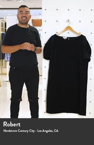 Milena Nouveau Wool Crepe Shift Dress, sales video thumbnail