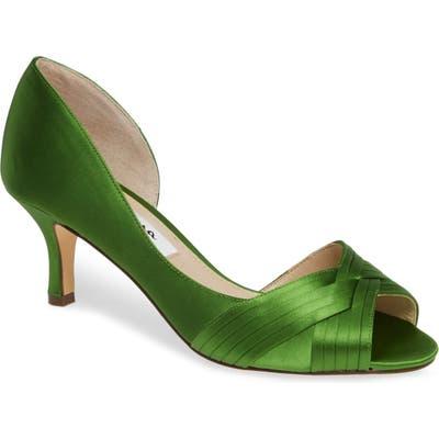 Nina Contesa Open Toe Pump- Green