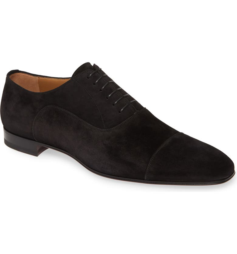 CHRISTIAN LOUBOUTIN Greggo Cap Toe Oxford, Main, color, BLACK