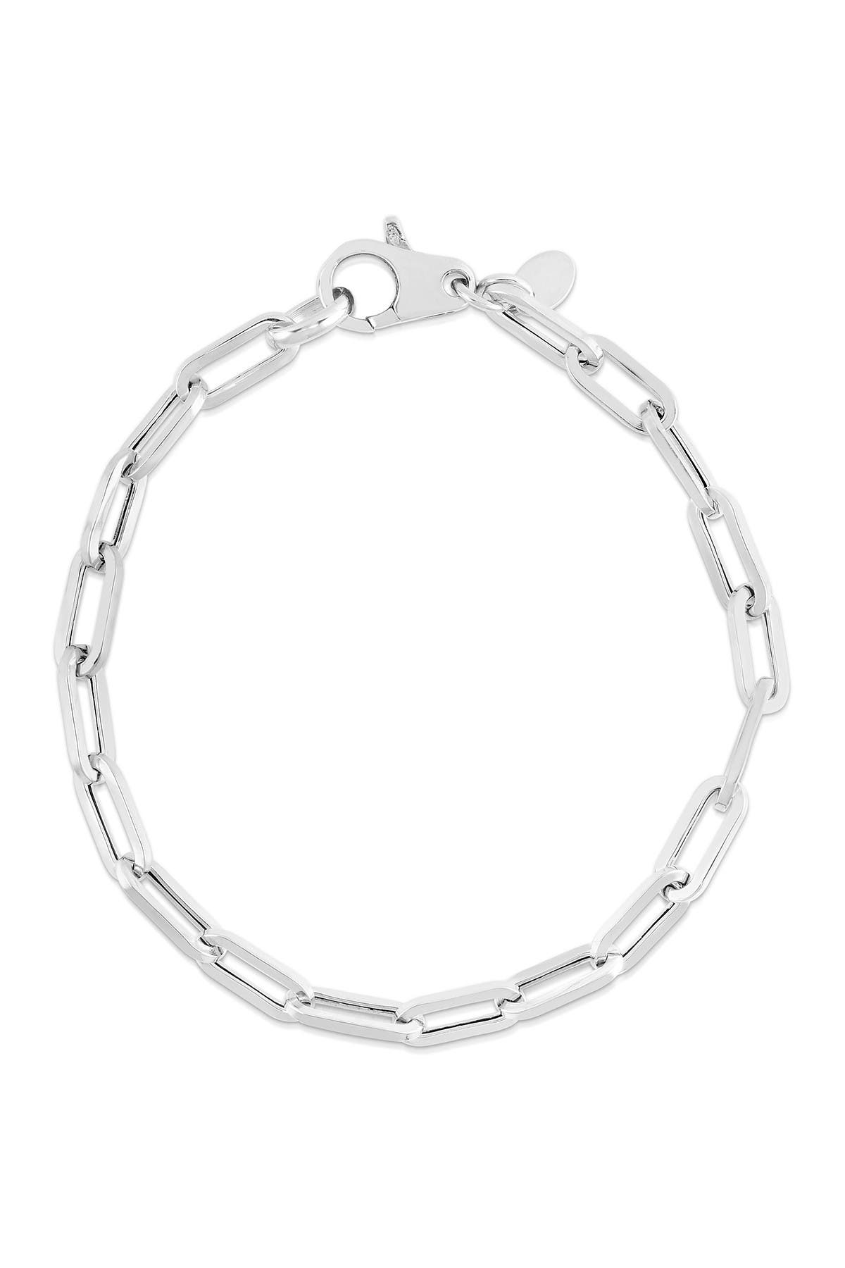 Image of Sphera Milano Rhodium Plated Sterling Silver Link Bracelet