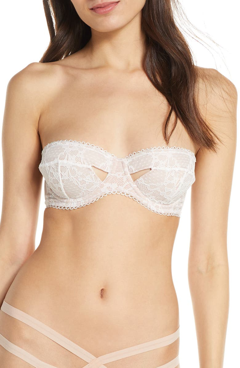 THISTLE & SPIRE Elizabeth Underwire Strapless Bra, Main, color, IVORY