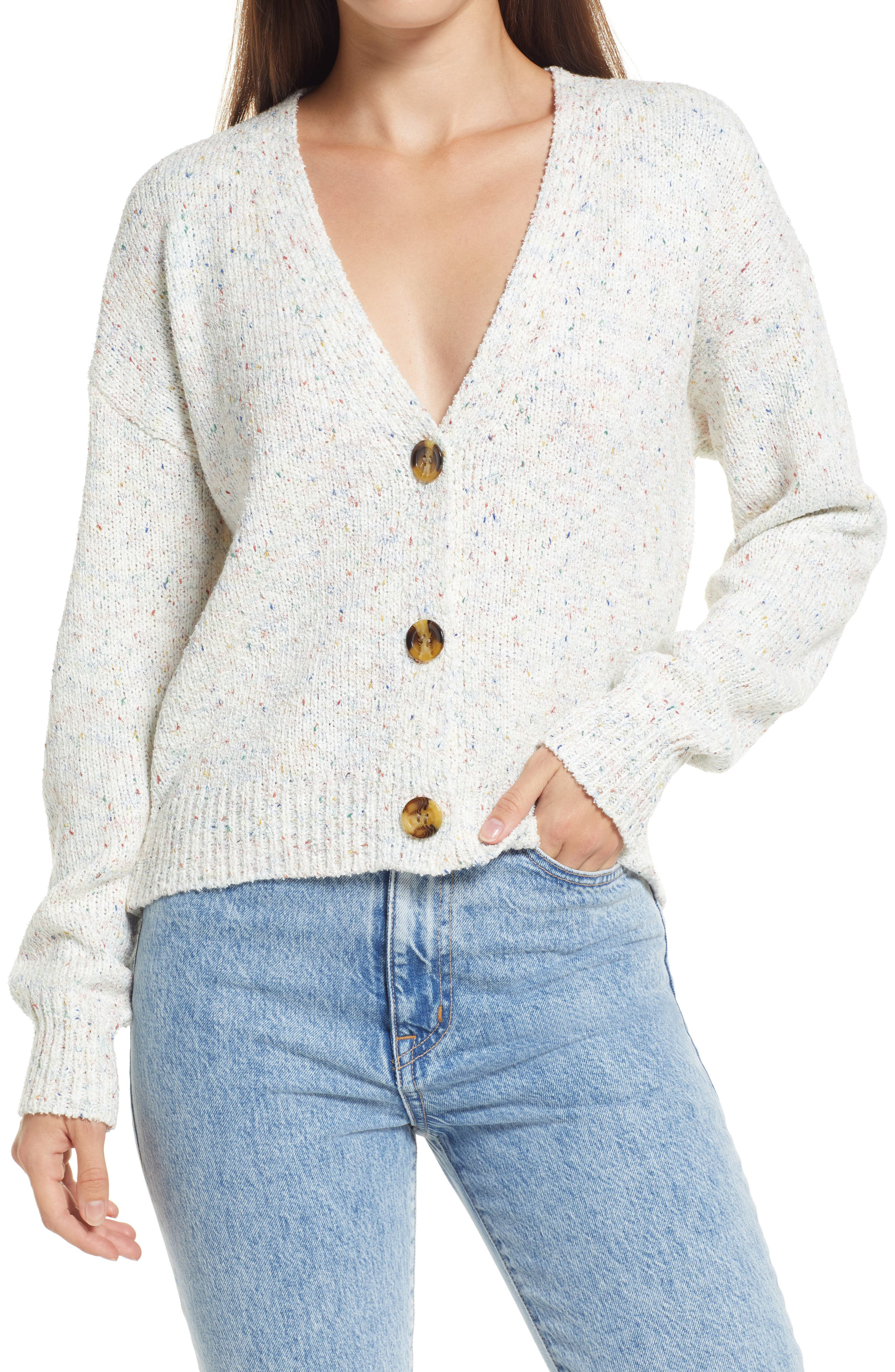 Happy Thoughts Multicolor Cardigan Sweater