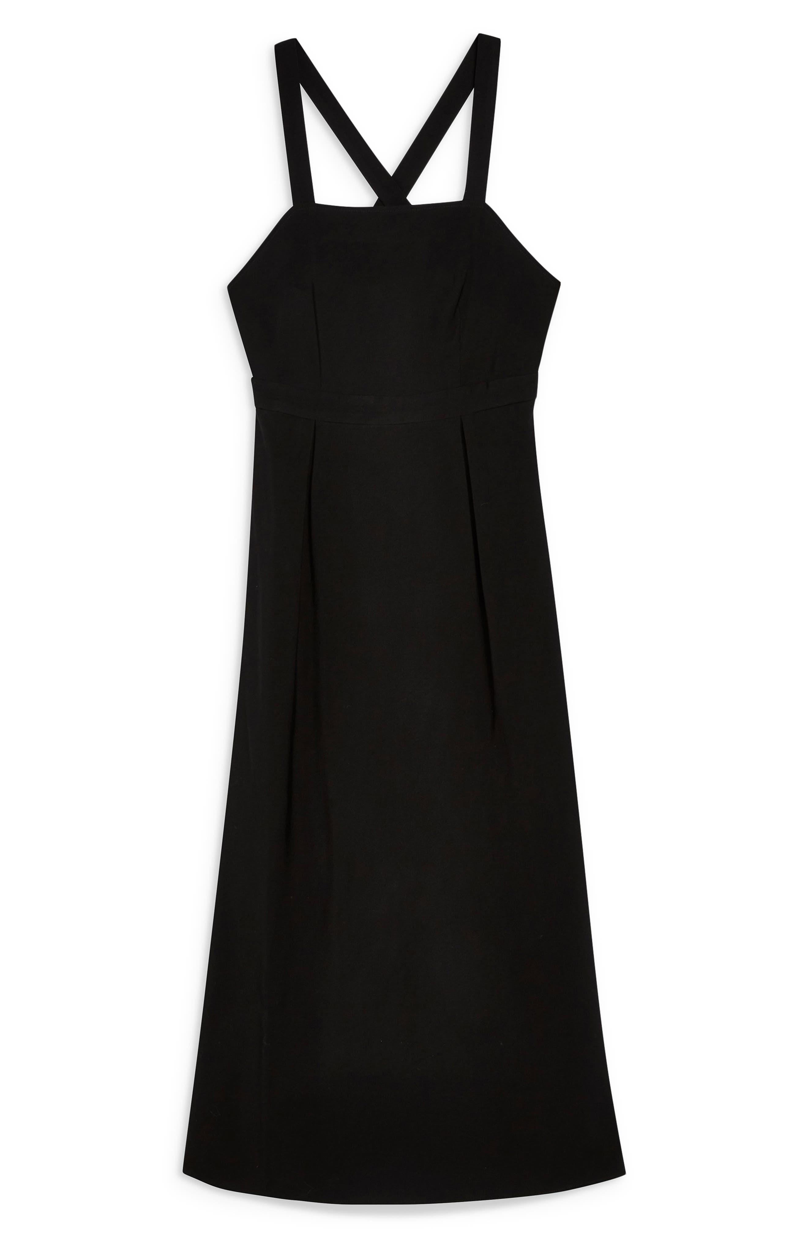 ,                             Tilda Pinafore Midi Dress,                             Alternate thumbnail 4, color,                             001