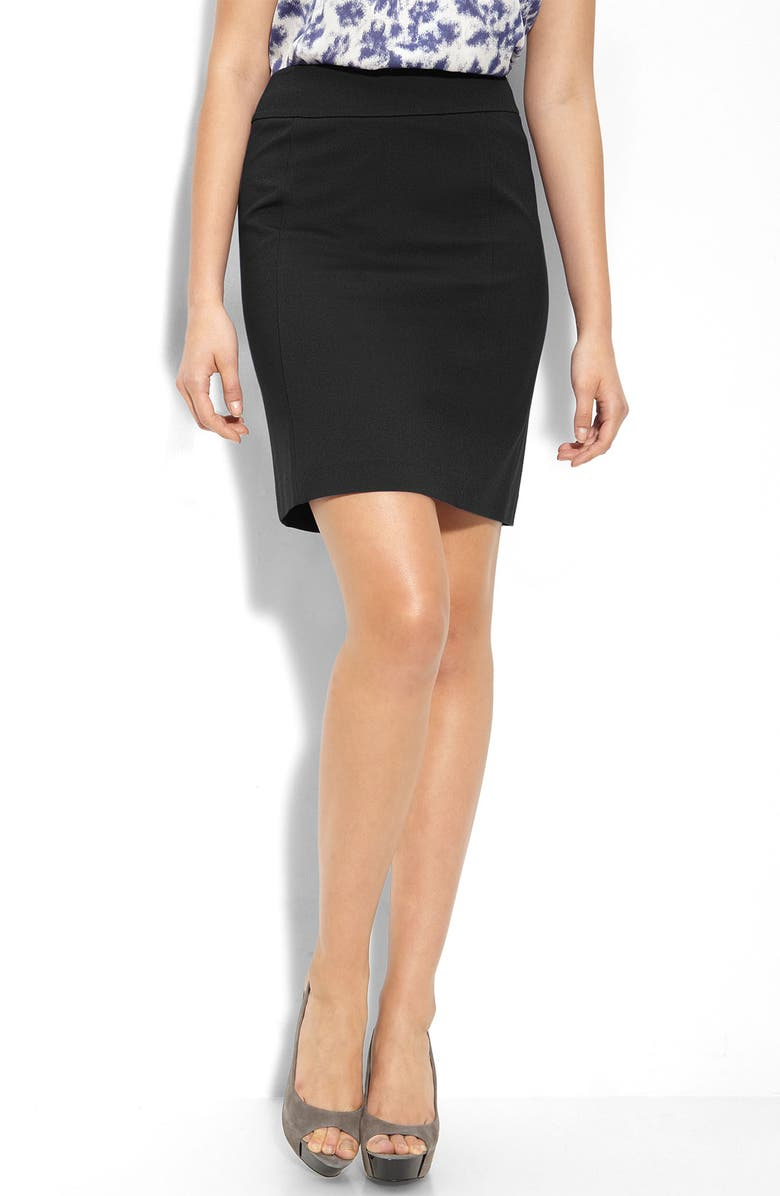 HALOGEN<SUP>®</SUP> Ponte Knit Pencil Skirt, Main, color, 001