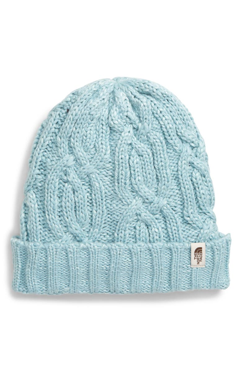 THE NORTH FACE Minna Cable Knit Beanie, Main, color, WINDMILL BLUE