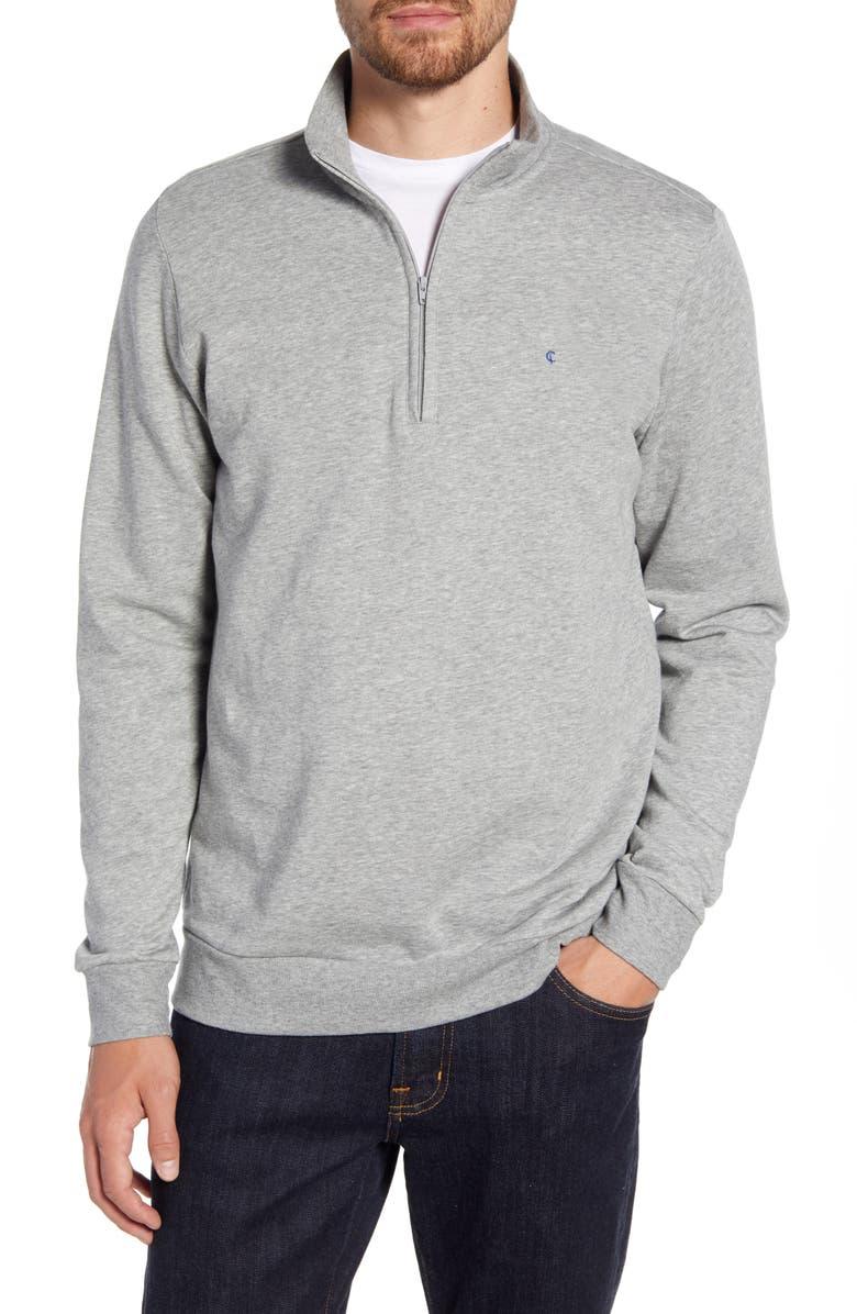 CRIQUET Regular Fit Quarter Zip Fleece Pullover, Main, color, 030