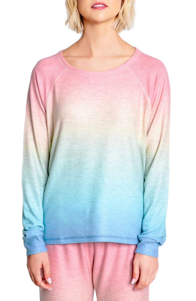 PJ SALVAGE Beach Bound Ombré Lounge Sweatshirt, Main, color, 600