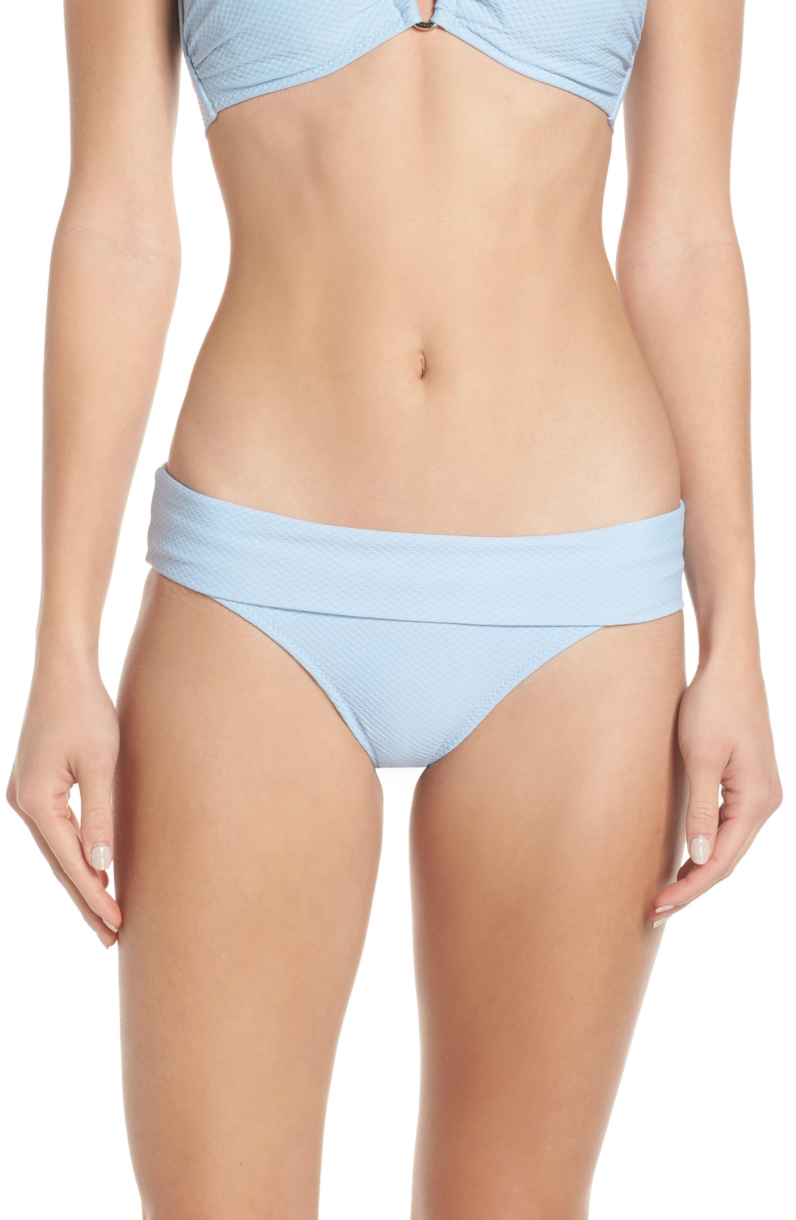 Heidi Klein Foldover Bikini Bottoms, Blue