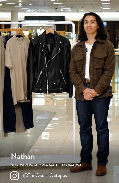 Milo Leather Biker Jacket, sales video thumbnail