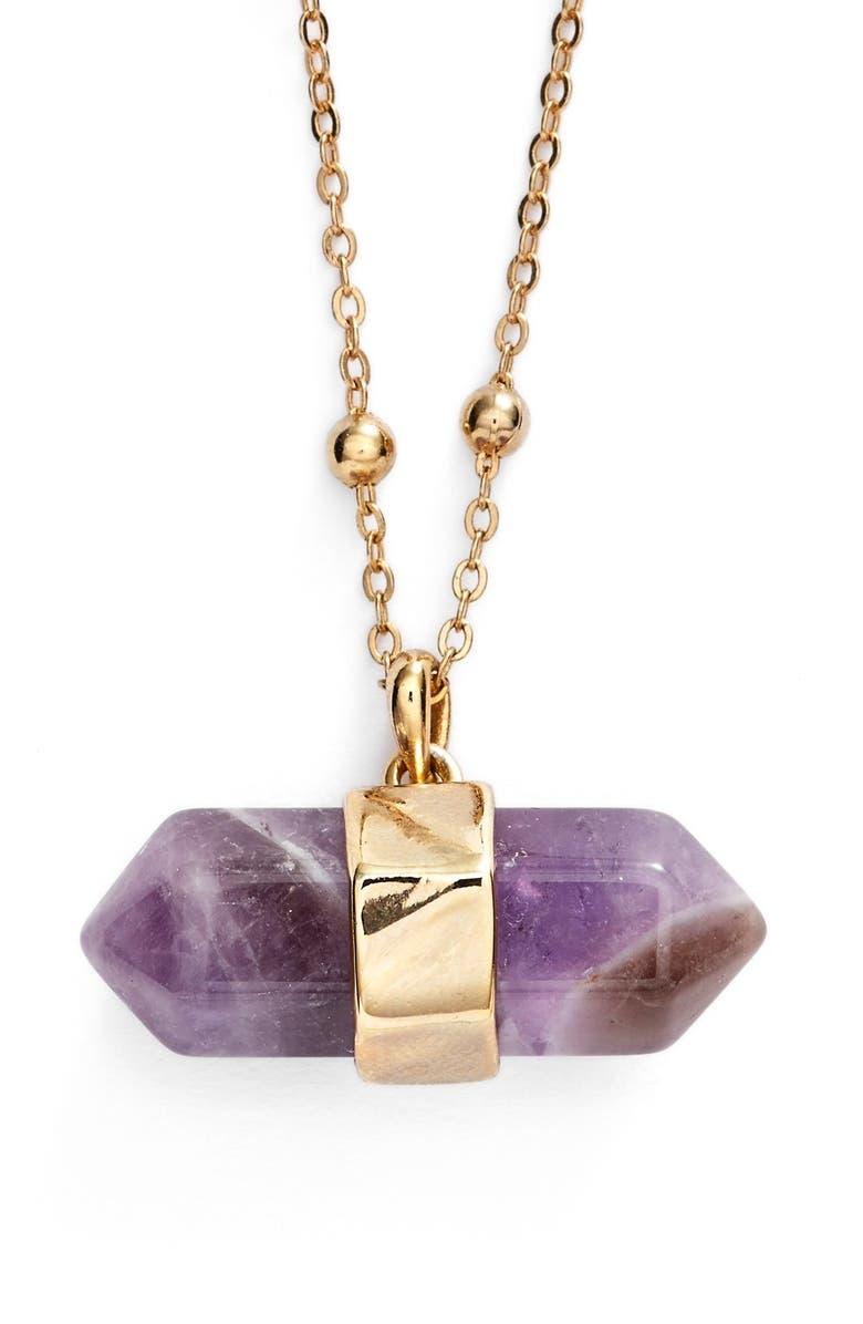 NORDSTROM Semiprecious Stone Pendant Necklace, Main, color, 710