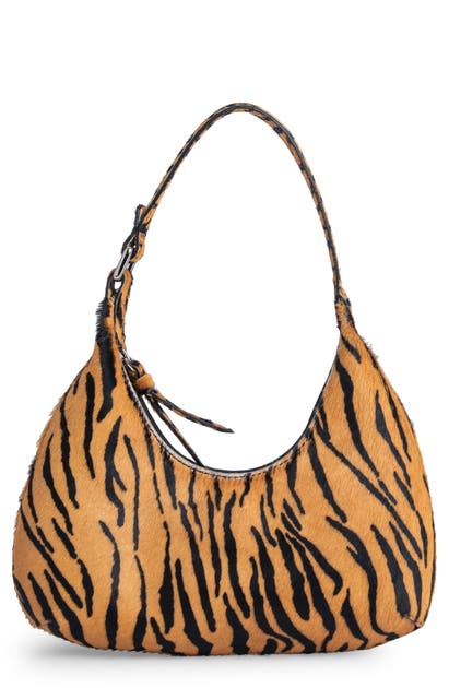 By Far BABY AMBER TIGER PRINT GENUINE CALF HAIR BAG