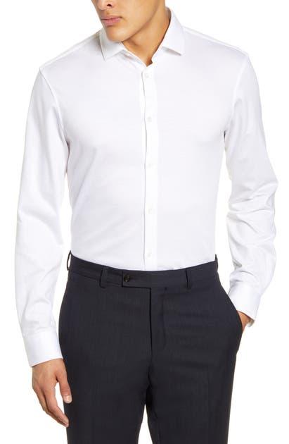 John Varvatos Dresses SLIM FIT SOLID DRESS SHIRT