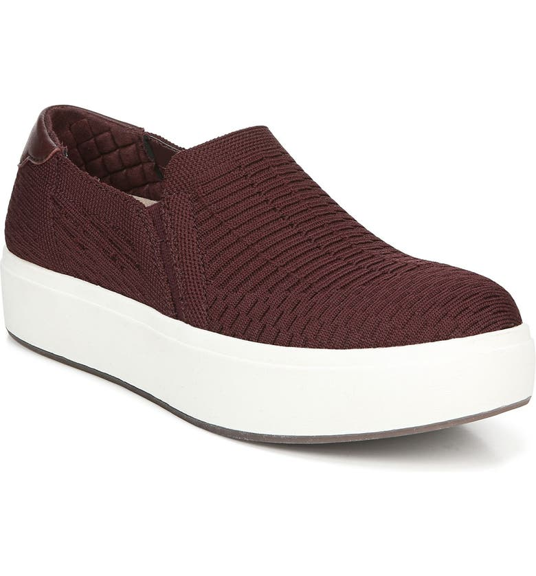 DR. SCHOLL'S Abbot Slip-On Sneaker, Main, color, BORDEAUX RED KIT FABRIC