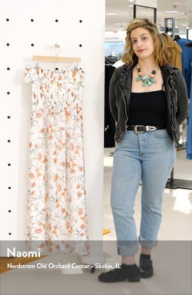Smocked Off the Shoulder Midi Dress, sales video thumbnail