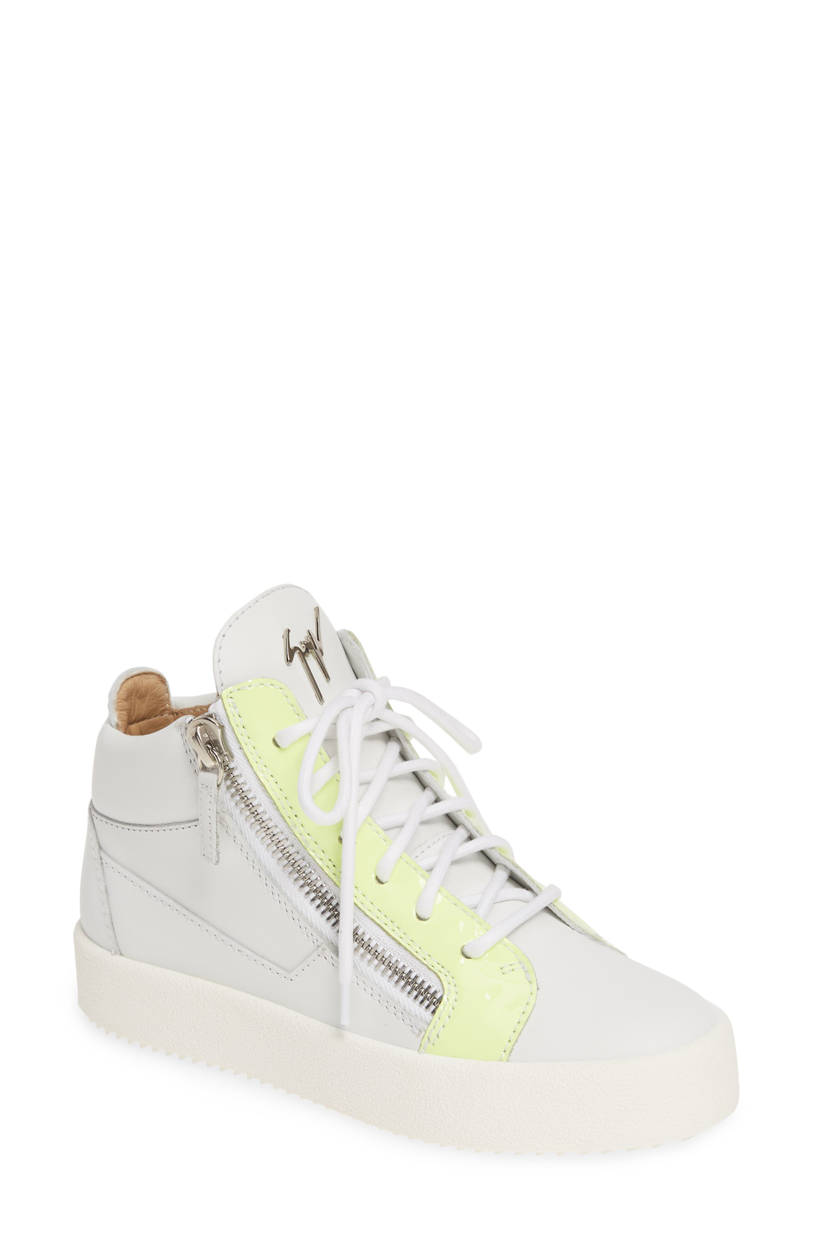 Giuseppe Zanotti May London Mid Top Sneaker- White
