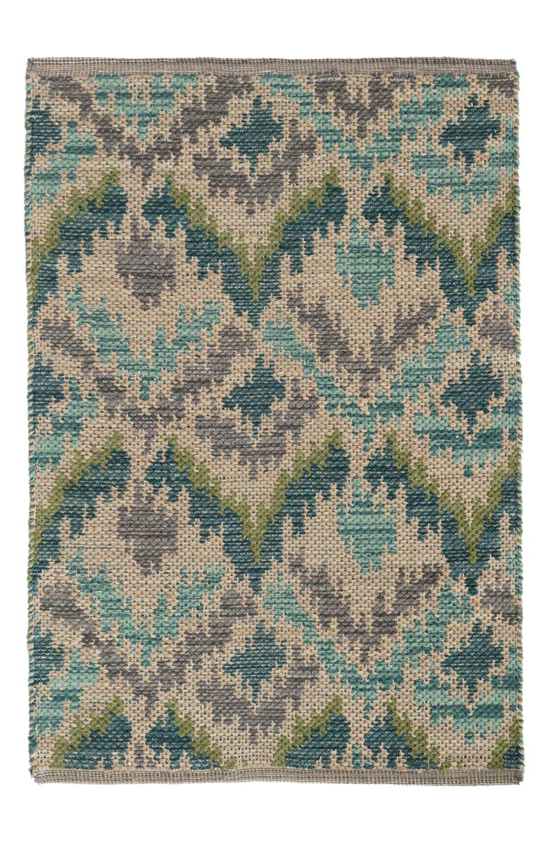 DASH & ALBERT Medina Handwoven Jacquard Rug, Main, color, GREEN