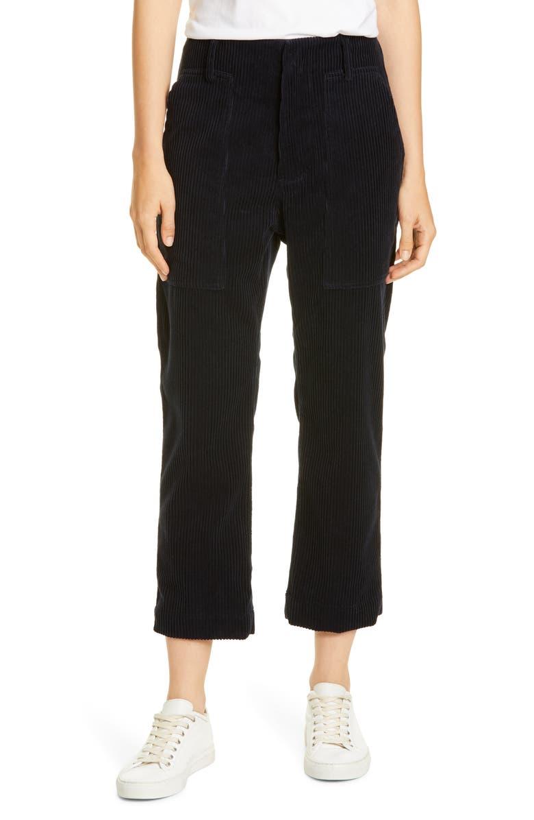 SOFIE D'HOORE Corduroy Crop Pants, Main, color, MIDNIGHT