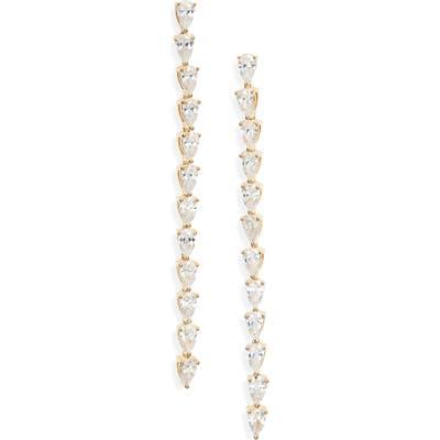 Nordstrom Pear Cubic Zirconia Linear Earrings