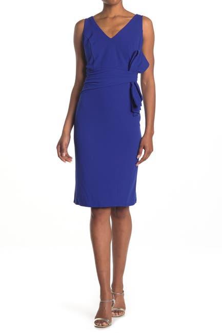 Image of Marina Side Bow Draped Dress