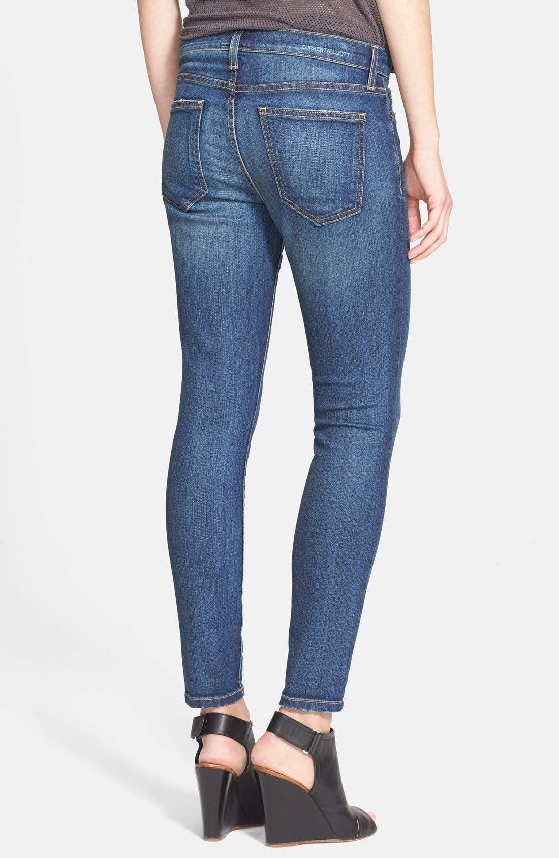 ,                             'The Stiletto' Destroyed Skinny Jeans,                             Alternate thumbnail 18, color,                             465