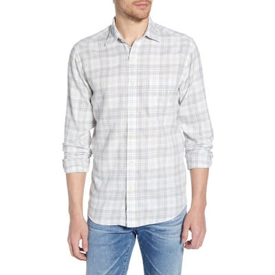 Faherty Everyday Regular Fit Plaid Shirt, Grey