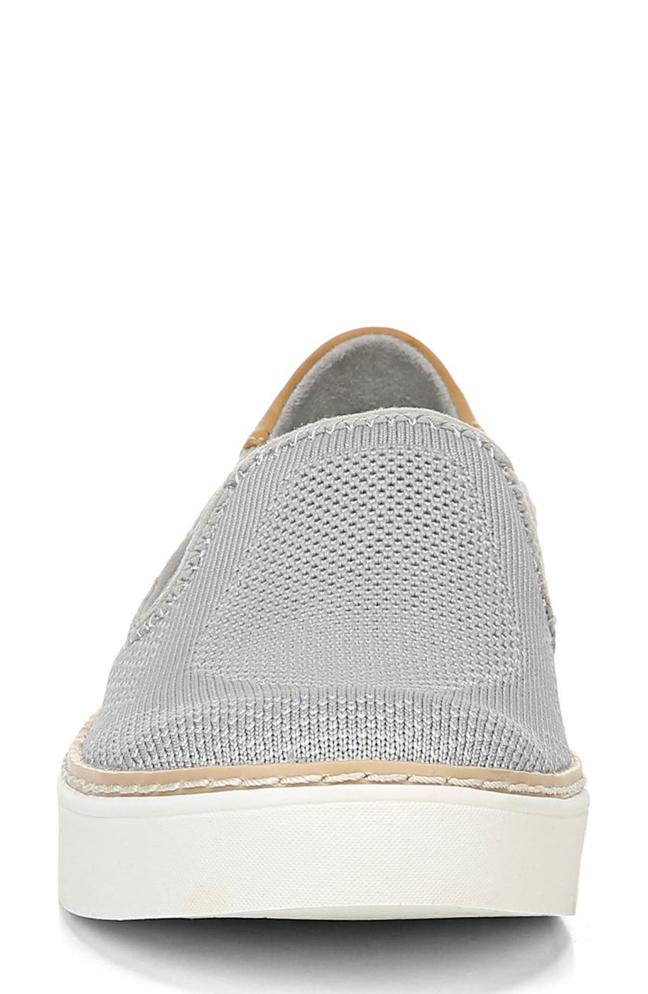 ,                             Madi Slip-On Sneaker,                             Alternate thumbnail 4, color,                             GREY KNIT FABRIC