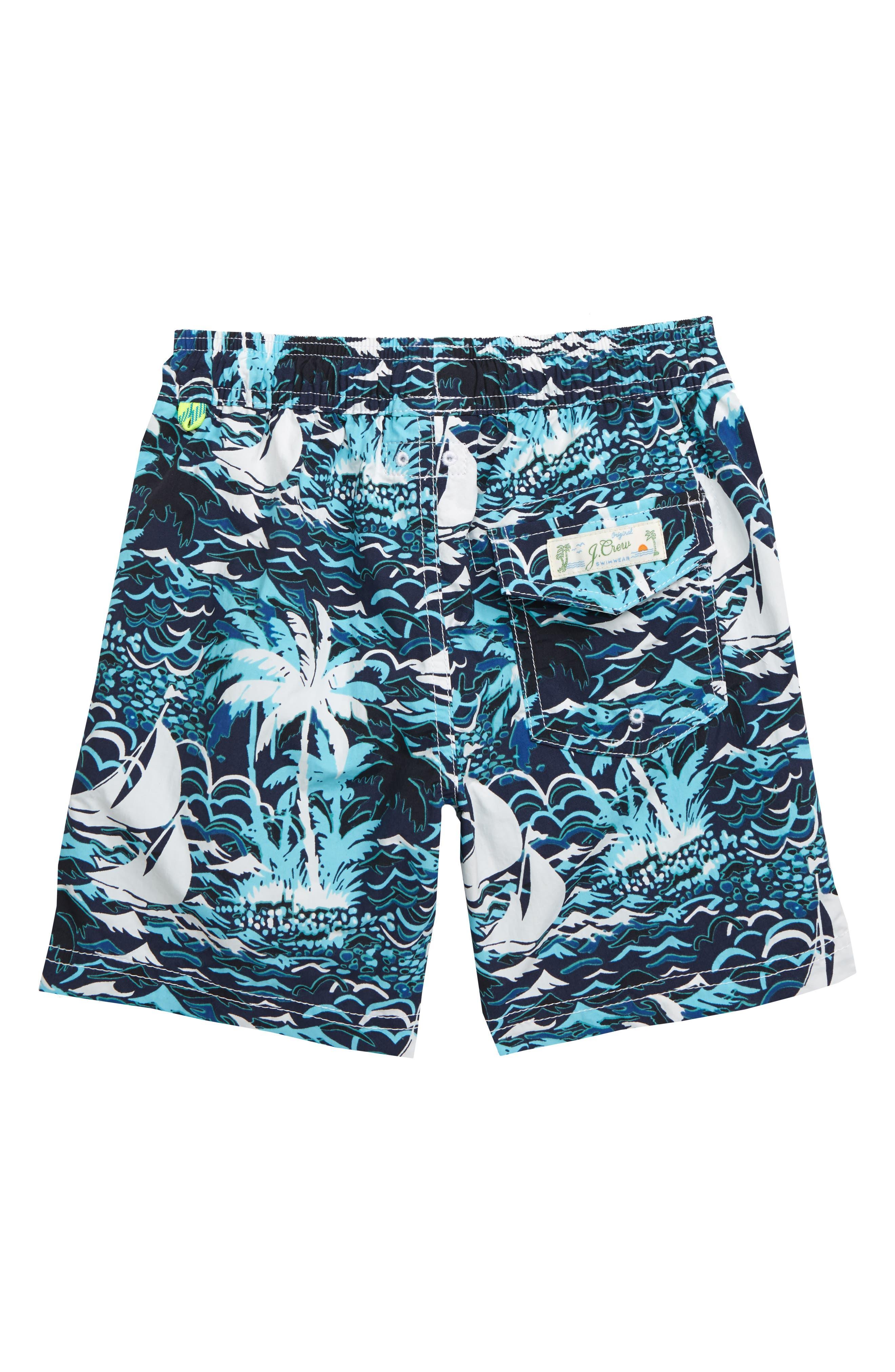 ,                             Sailboats Swim Trunks,                             Alternate thumbnail 2, color,                             SAILBOAT ISLE BLUE MULTI