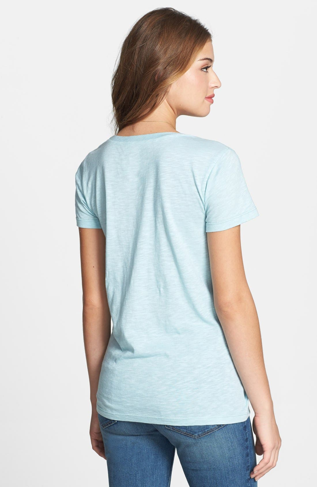 ,                             Relaxed Slub Knit U-Neck Tee,                             Alternate thumbnail 288, color,                             450
