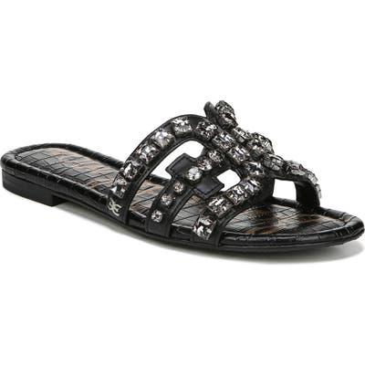 Sam Edelman Bay 2 Embellished Slide Sandal, Black
