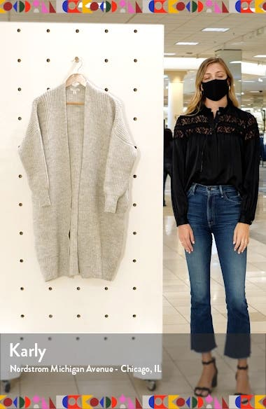 Ribbed Open Front Cardigan, sales video thumbnail