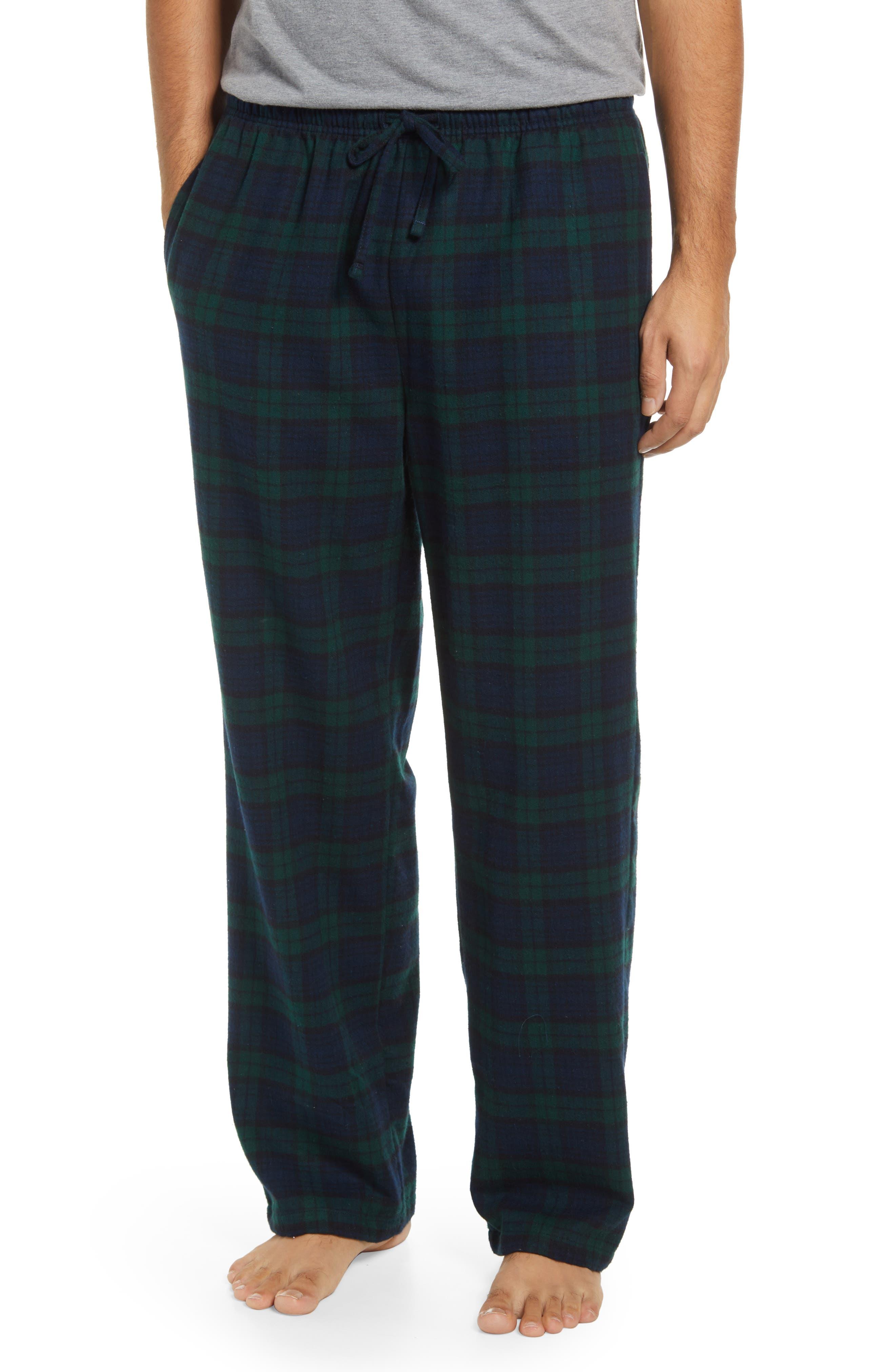 Men's Scotch Plaid Flannel Pajama Pants