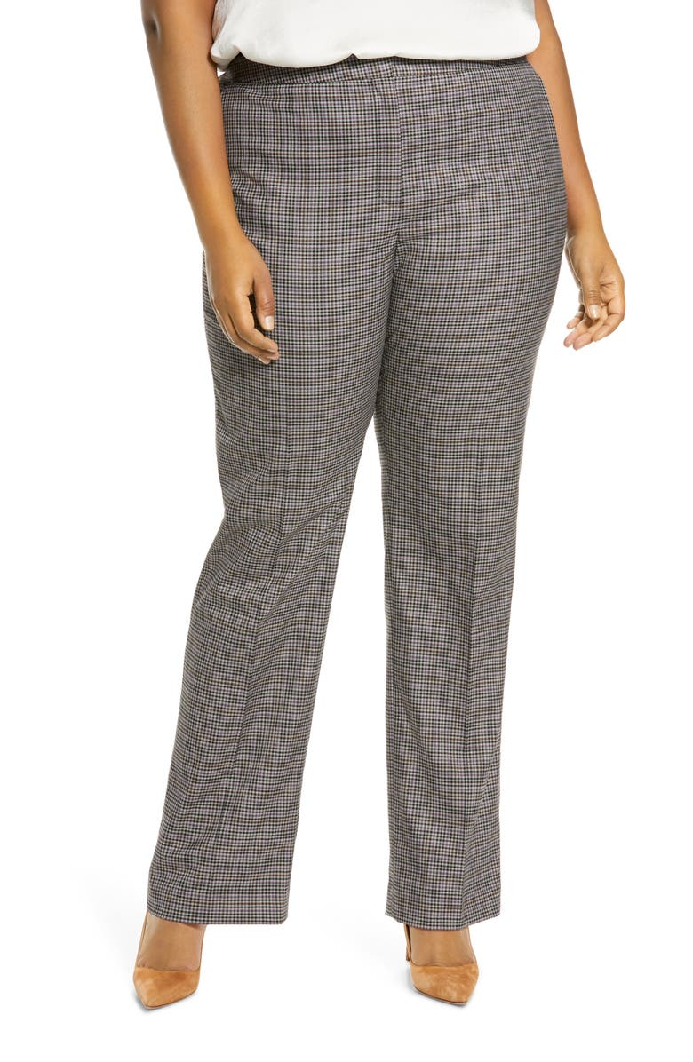 HALOGEN<SUP>®</SUP> Stovepipe Pants, Main, color, PURPLE MULTI CHECK