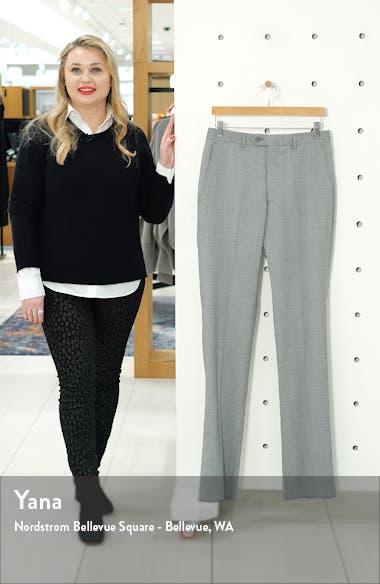 Flat Front Sharkskin Stretch Wool Dress Pants, sales video thumbnail