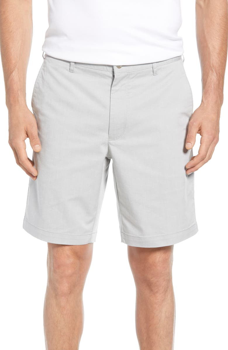 PETER MILLAR Crown Comfort Chino Shorts, Main, color, GALE GREY