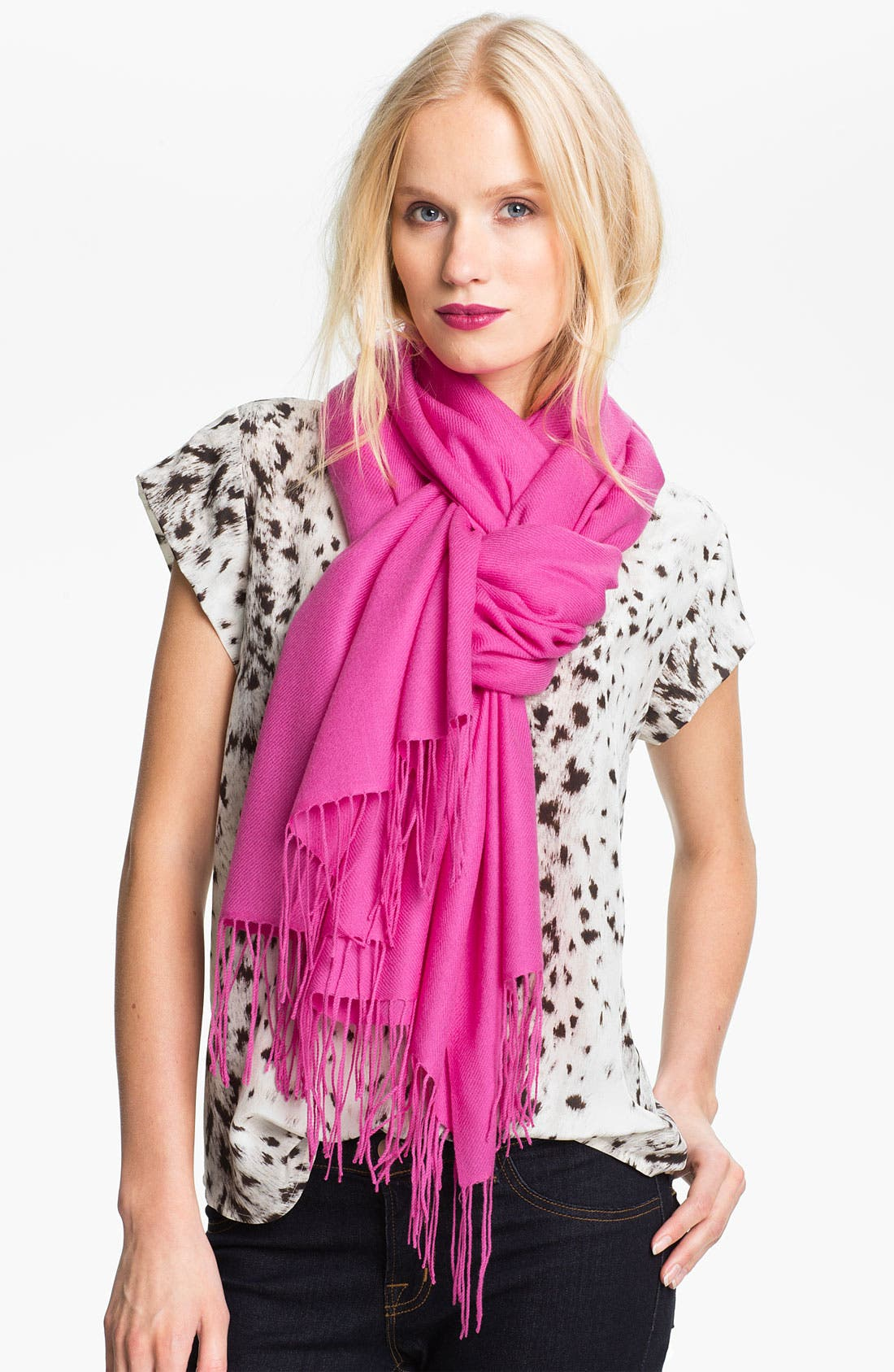 ,                             Tissue Weight Wool & Cashmere Wrap,                             Main thumbnail 134, color,                             510