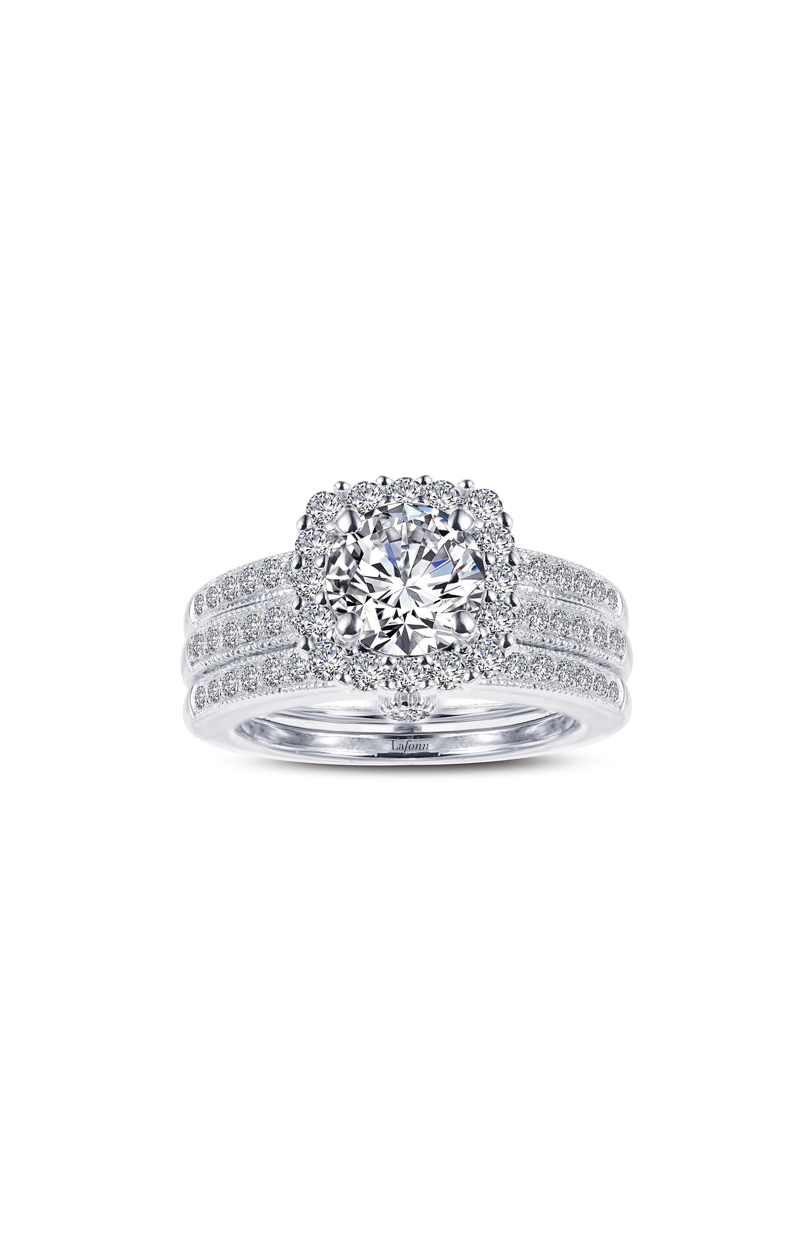 Infinite Love Simulated Diamond Wedding Ring Set