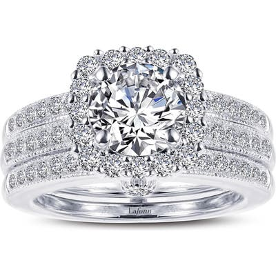 Lafonn Infinite Love Simulated Diamond Wedding Ring Set