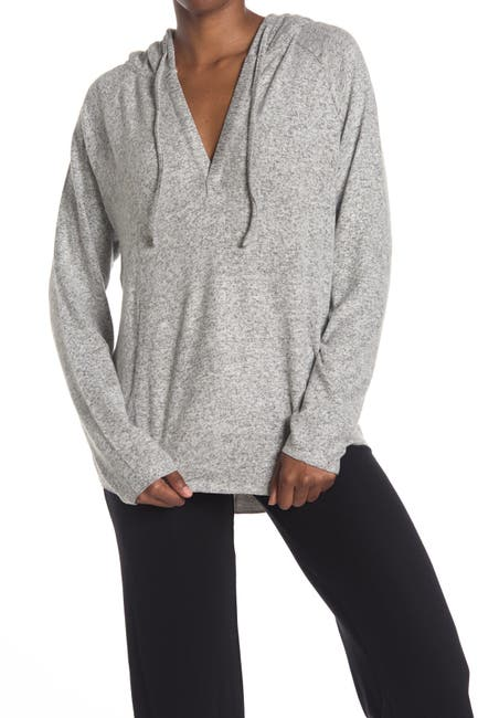 Image of Daniel Buchler Heathered Drawstring Hoodie