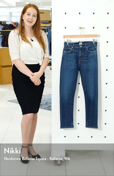 Harlow High Waist Ankle Slim Jeans, sales video thumbnail