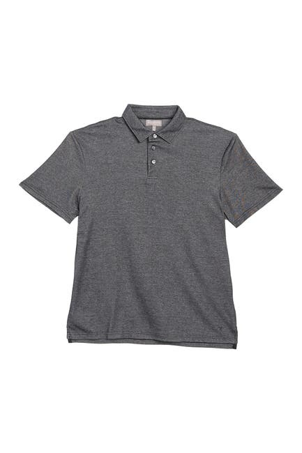 Image of Hickey Freeman 3-Button Short Sleeve Polo Shirt