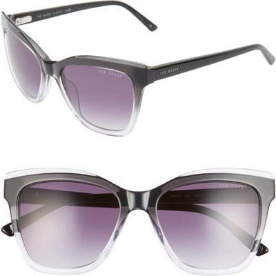 Ted Baker London 5m Gradient Square Sunglasses - Black