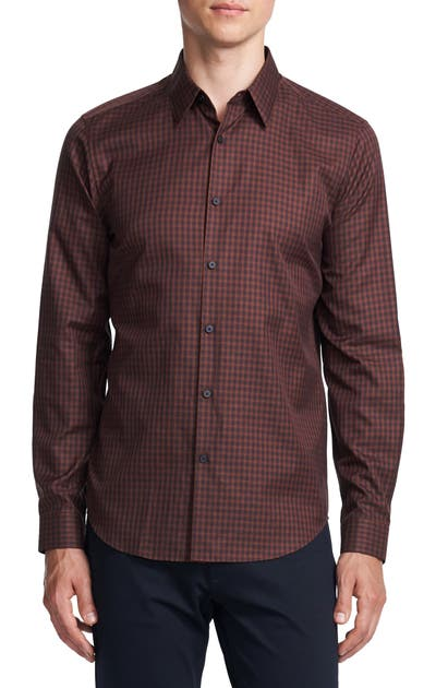 Theory Shirts IRVING SLIM FIT CHECK BUTTON-UP SHIRT