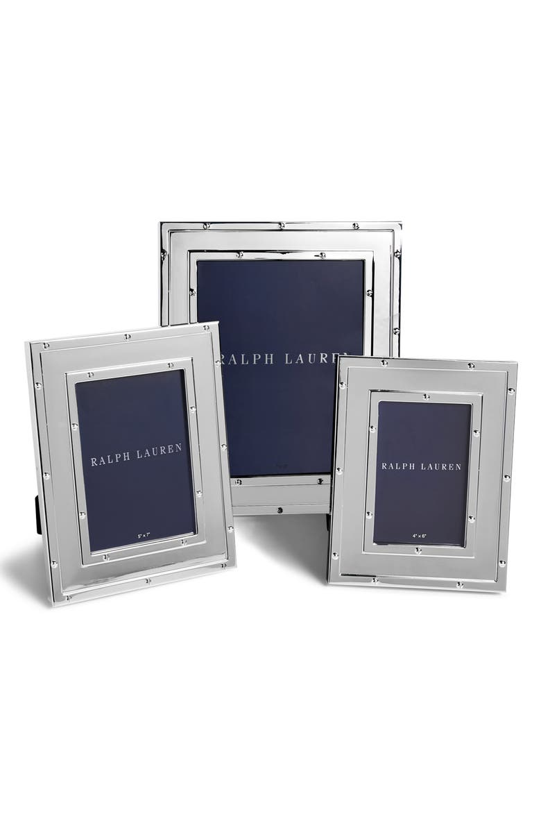 RALPH LAUREN Bleecker Picture Frame, Main, color, SILVER