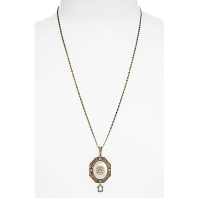 Alexander Mcqueen Signature Medallion Pendant Necklace